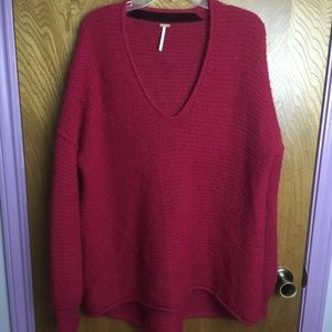 Free People Oversized V-Neck Sweater